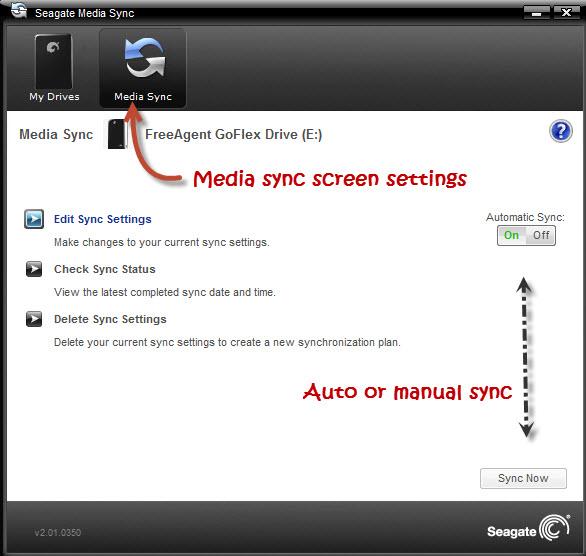 Seagate Media Sync