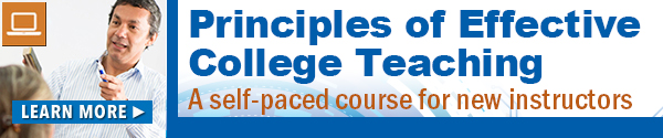 Principles of Effective College Teaching