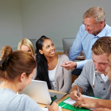 thinkstock-small-student-group-with prof